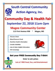 Community Day @ Magee Community Center | Magee | Mississippi | United States